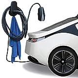 Für Tesla Modell 3 Kabelhalter Typ 2 Wandhalterung Auto Halterung Ladegerät Wandanschluss Halter für Ladekabel Wallbox Ladestation Organizer (Black)