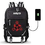 YOYOSHome Anime Naruto Cosplay Bookbag Daypack Laptop Tasche Rucksack Schultasche mit USB-Ladeanschluss, 17 (Schwarz) - yyyo3