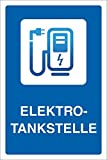 WERBEPUNKT. Schild Elektrotankstelle Ladestation E-Auto Elektroauto 3 mm Alu-Verbund - 300 x 200 mm