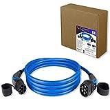 TEUTSCHTECH EV Ladekabel, Autoladekabel für Elektrofahrzeuge, Stecker TYP2 auf TYP2 I 22kW I 3x32A I 3-phasig I 5m I Versilberte Kontakte I Wasserdichtes Design.