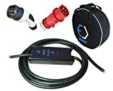 EVSE - Smart tragbare Ladegerät TYP 2 - CEE 5-polig Plug (MENNEKES) | 32A | 3-phasig | 5-8m | 22kW + Tragetasche (5 Meter)