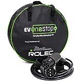 EV OneStop Simple, Affordable, Easy EV Ladekabel für Elektrofahrzeuge | Typ 2 bis Typ 2 | 16/32 Amp | 5/10 Meter | Kostenlose Tragetasche | (16 Ampere / 5 Meter)