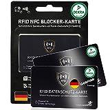 DEKRA gepr. RFID Blocker Karte Ultra dünn 0,8mm I Neuste 360° RFID NFC Blocker Karte I NFC Schutz für Geldbörse, EC- & Kreditkarte I Schutzkarte, Schutzhülle, Kartenhülle   2 STK