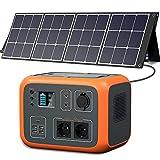 PowerOak 500Wh AC50S Powerstation mit Solarpanel Faltbar 120w, Solar Generator & Mobile Stromversorgung mit Faltbares Solarmodul für Camping Campervan Garten (BLUETTI AC50S und PowerOak BLUETTI SP120)