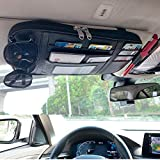 Da by,New Car Sun Visor Organizer,Black,Auto Interior Accessories Pocket Organizer, Registration and Document Holder, Personal Belonging Storage Pouch Organizer