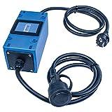 as - Schwabe MIXO Stromzähler 230V MID-konformer Stromzähler mit Rücklaufsperre zur Reduzierung der EEG Umlage– Zwischenstecker Box mit Schuko-Stecker & Schuko-Kupplung IP44 Made in Germany 61747