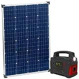 reVolt Solarzelle: Powerbank & Solar-Konverter mit mobilem 110-Watt-Solarpanel, 114 Ah (Powerbank 12V Solar)