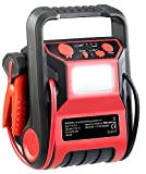 REVOLT Powerpack Starthilfe: 5in1-Starthilfe-Powerbank & Kompressor, USB, 12V 9.000mAh, 600A 250PSI (Akku Kompressor)