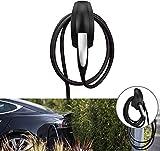 Kabelhalter Typ 2 | Model 3 Model S Model X EV Ladegerät Typ 2 Wandhalterung | Wallbox Ladestation Ladekabel Organizer Ladegerät HalterungWandanschluss Halter (Schwarz)