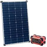 reVolt Solarstrom: Powerbank & Solar-Konverter mit mobilem 110-Watt-Solarpanel, 216Ah (Powerbank Camping Solar)