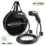 EV OneStop Simple, Affordable, Easy EV Ladekabel für Elektrofahrzeuge   Typ 2 bis Typ 2   16/32 Amp   5/10 Meter   Kostenlose Tragetasche   (32 Ampere / 10 Meter)