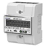 ORNO OR-WE-516 Stromzähler Hutschiene 3-Phasen-Anzeige des Stromverbrauchs mit MID Zertifikat, Modbus Kommunikationsprotokoll, 0,25A - 80A, 3 x 230V/400V, 50/60Hz, 1000 imp/kWh