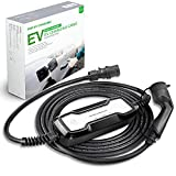 Morec EV Ladekabel Typ 2 CEE Schaltbare ev Ladegerät 10/16A Ladebox IEC62196-2 Elektroauto EVSE (CEE-Stecker) 2,2/3,6kw, 6.5m/24.6ft
