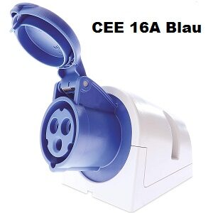 Campingsteckdose CEE Blau 16A